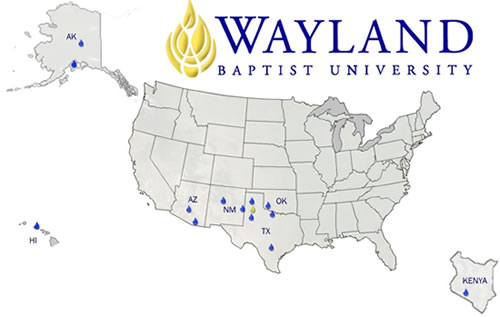 Wayland Baptist University Campus Locations